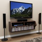 48 5 Modern Floating Tv Stand Shelf Wall Mounted Hanging Audio Video Console