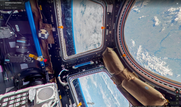 Google Maps view from the International Space Station