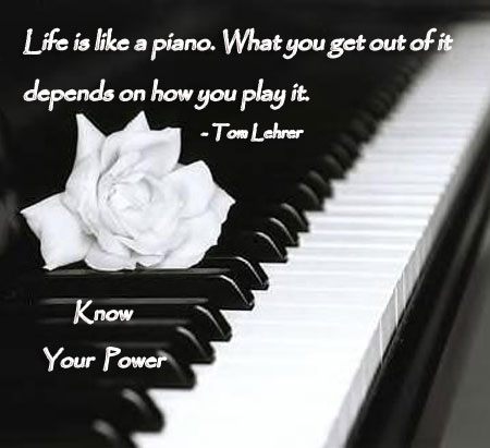 Life is like a piano - StoreMyPic