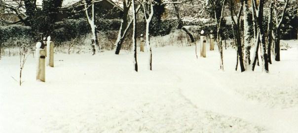 Tasting Garden in the snow.