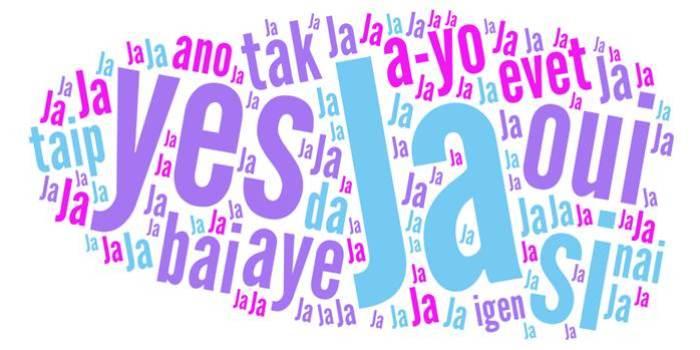 Wortwolke Ja sagen