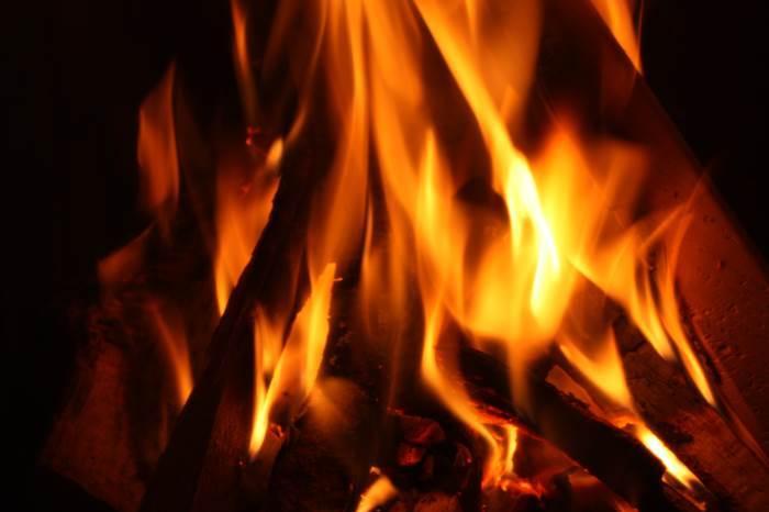 Winter Feuer Kamin