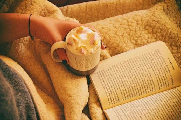 Winter Couch Decke Buch