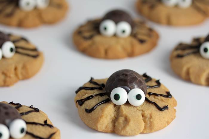 Halloween Spinnen-Cookies-lowcarb-low carb-rezept