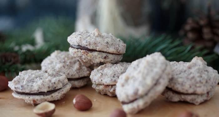 Haselnuss Nougat Bissen low carb-lowcarb-Plätzchen-Weihnachtsgebäck-Rezept