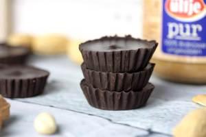 Low Carb-Peanut Butter Cups-zuckerfreie Erdnussbutter Cups