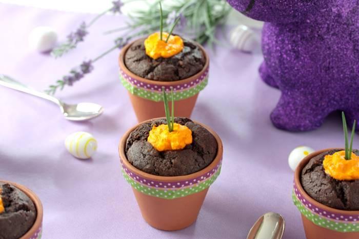 Schoko Muffins Low Carb-Rezept-lowcarb-Ostern-Muffins im Tontopf