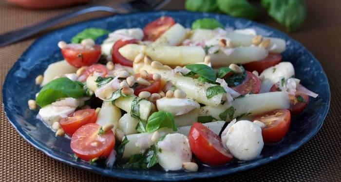 Spargelsalat-Basilikum-Vinaigrette-Rezept-lowcarb-low carb