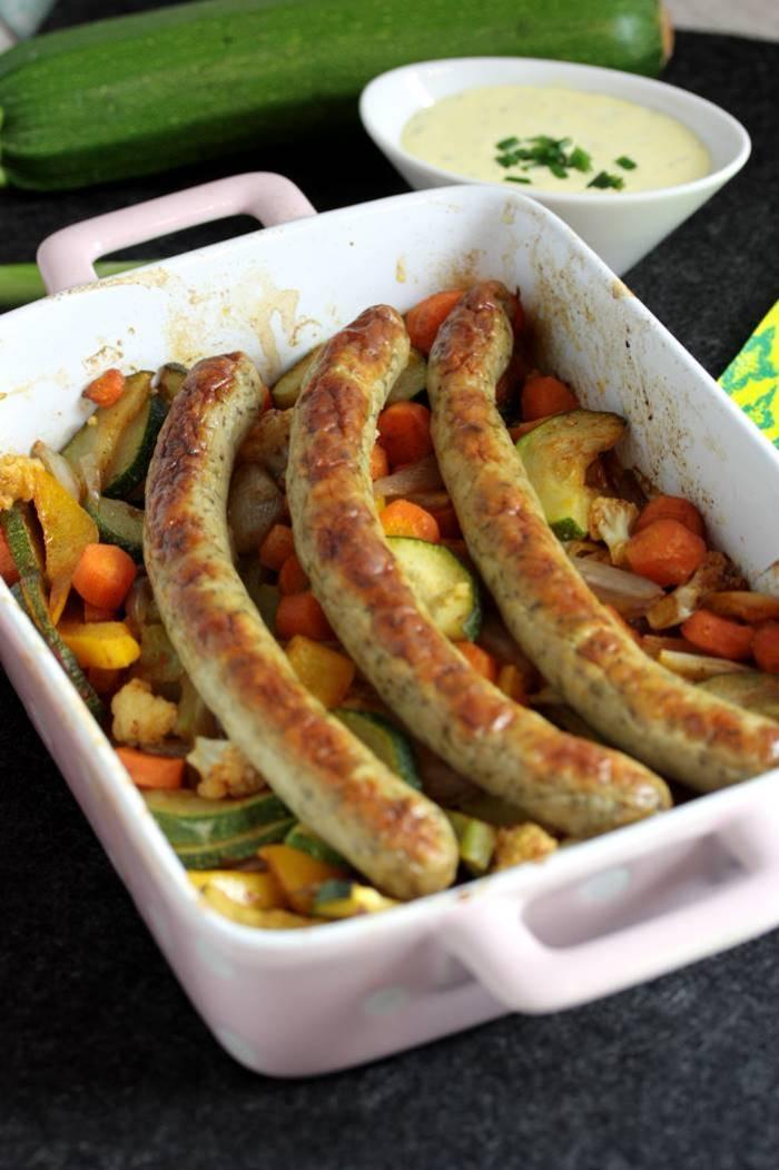 Bratwurst aus dem Ofen-Low Carb-Rezept