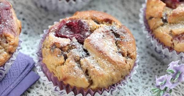 Low Carb Kirsch Schokoladen Muffins-lowcarb Muffin Rezept