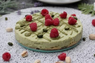 Pistazien Käsekuchen-Kühlschrankkuchen-no bake Cake
