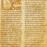 Foglio 3v dal Codex Beda Petersburgiensis (746)