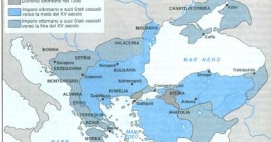 L'avanzata dei Turchi Ottomani nei Balcani e nell'Impero bizantino (1327-1452).