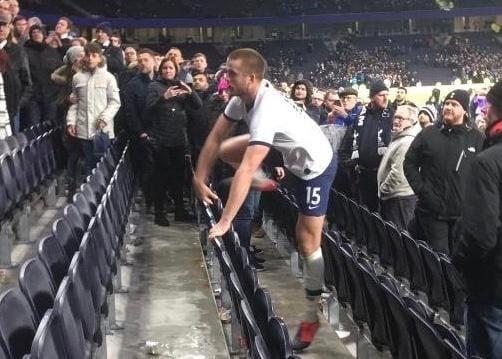 (VIDEO): Dier salta in tribuna ed aggredisce un tifoso per proteggere il fratello. Ecco cosa è successo