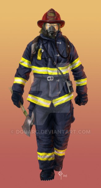 Firefighter, Artwork di Davide Quaroni per Mondi di Fate