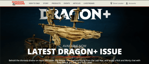 Dungeons & Dragons Sito Ufficiale Dragon+ Storie di Ruolo