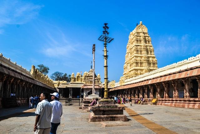 The Inner Courtyard | Virupaksha Temple of Hampi | Stories by Soumya