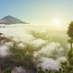 pico de teide, mountain summit above the clouds, Tenerife, Spain