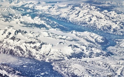 An aerial view of Iceland