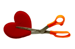 Cutting out the heart, august blog title