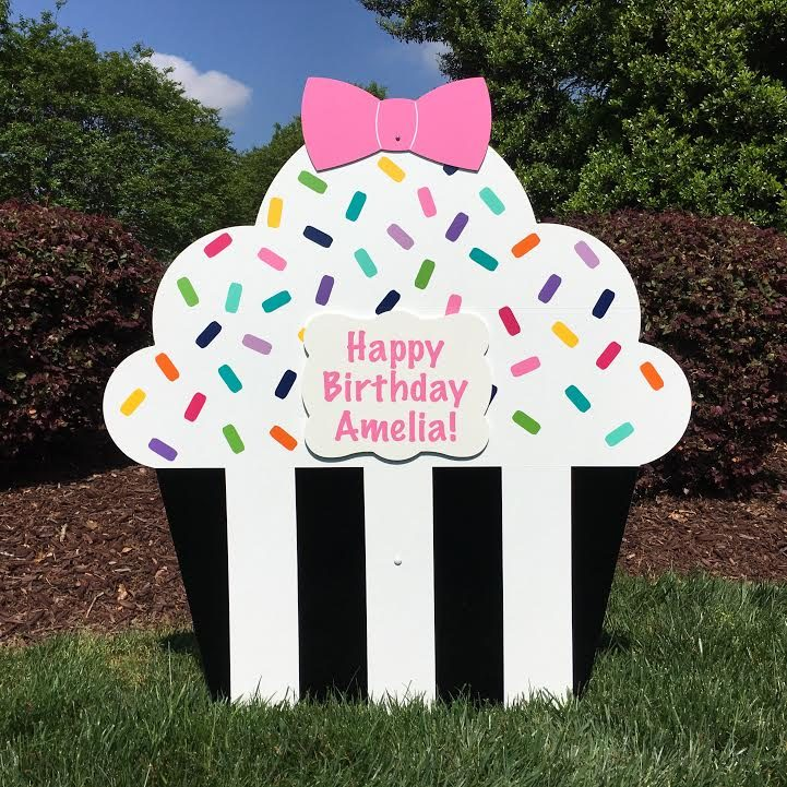 Birthday Lawn Signs Coordinating Toppers