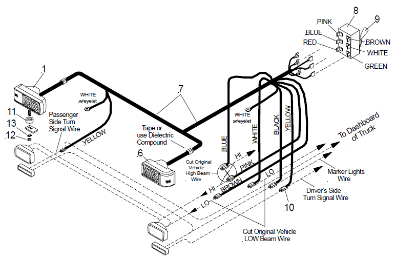 Curtis Plow Light Wiring Schematic