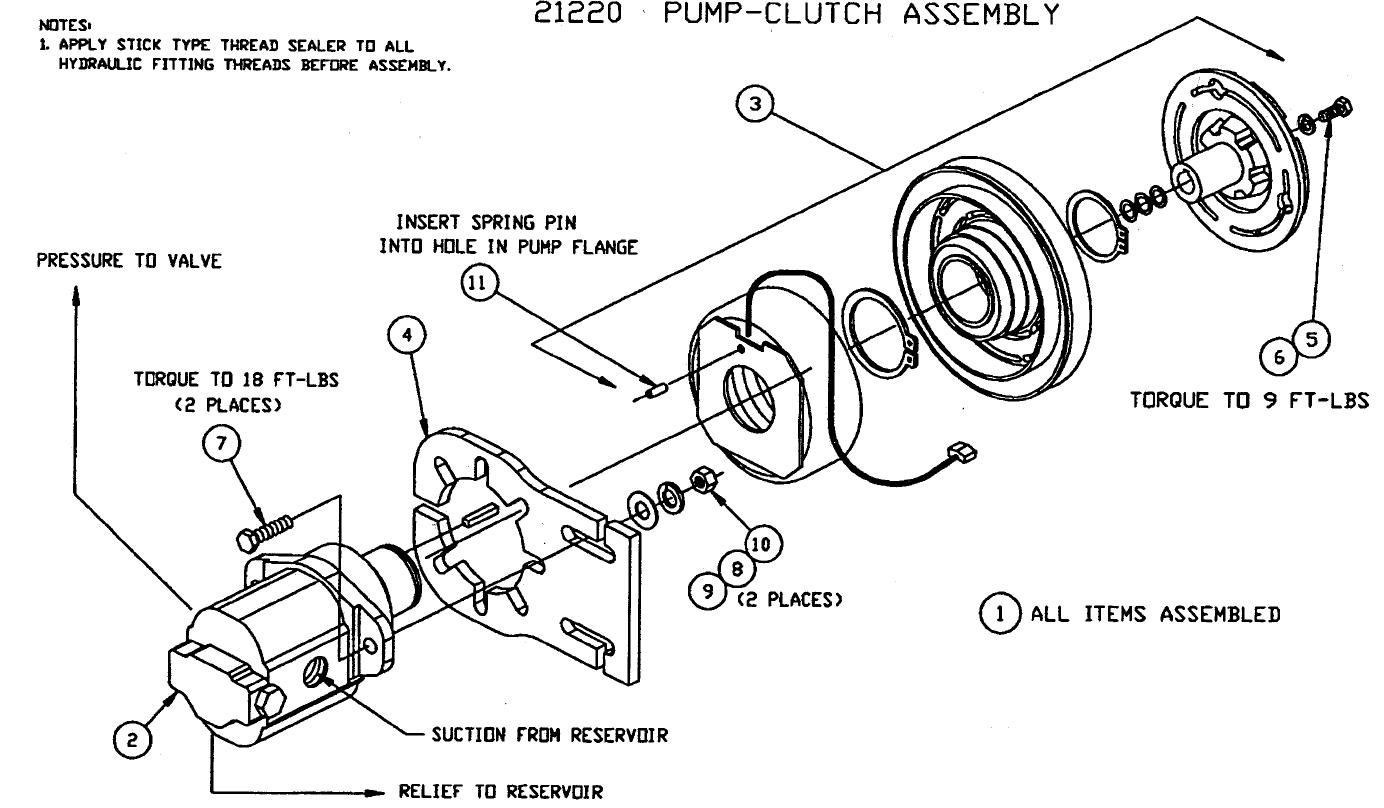 21220 pump clutch assembly