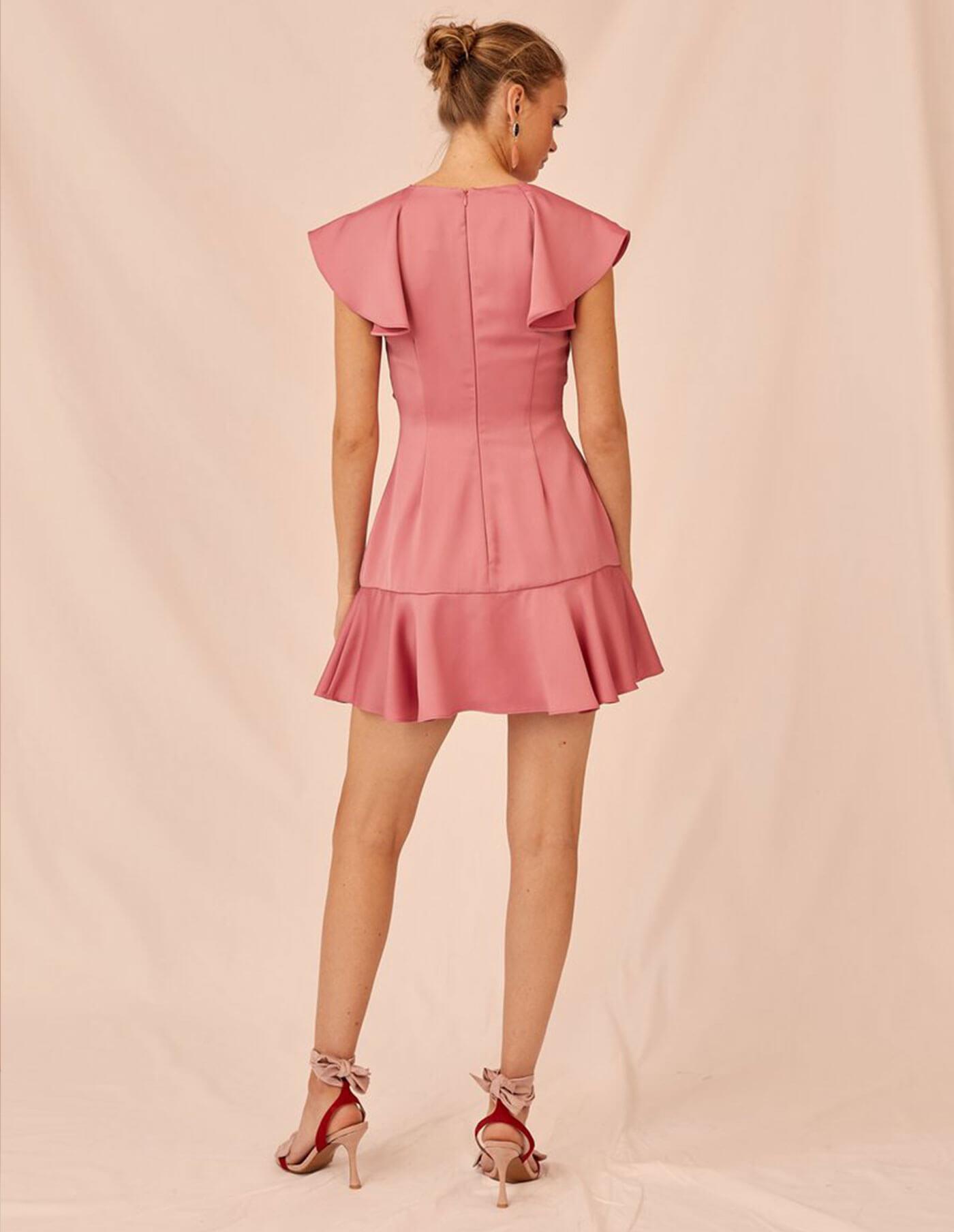 Keepsake Restore Mini Dress In Pop Pink at Storm Fashion