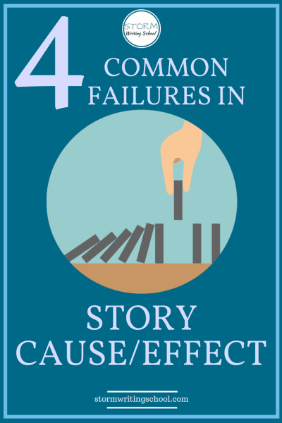 Avoid unearned story developments by paying close attention to causality. #deusexmachina #plotting #realizations