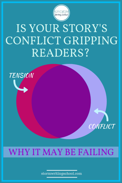We assume conflict and tension go hand in hand all the time, but they don't. You can have tension without conflict and you can have conflict without tension. | stormwritingschool.com