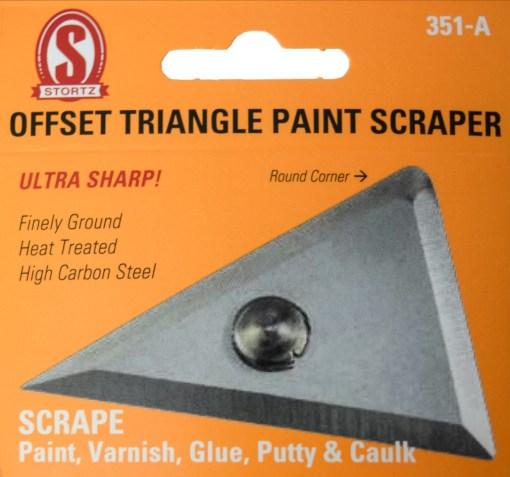 351-a Offset triangle paint scraper