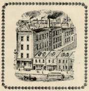 Drawing of John Stortz factory at 210 Vine St. from catalog