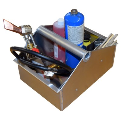 Soldering Box With Soldering Supplies