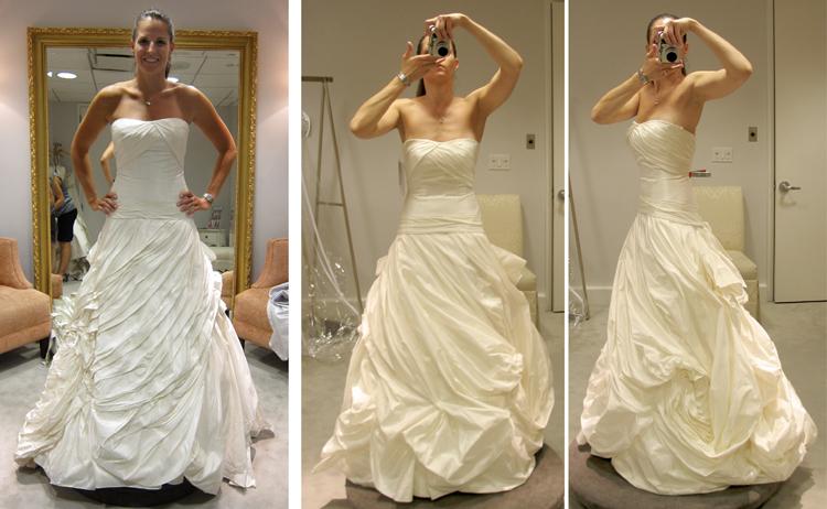 Sample wedding dresses versus the real deal storyboard for Wedding dresses for tomboy brides
