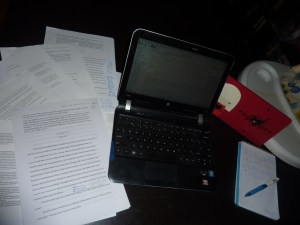 If you look closely enough you can see the duct tape holding my laptop together ;p