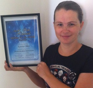Me and my shiny new certificate. Yes, I framed it.