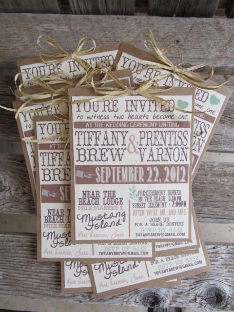 Rustic Wood Latch Wedding Invitation Set