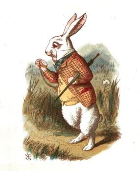 El Conejo Blanco de John Tenniel en Alicia en el País de la Maravillas