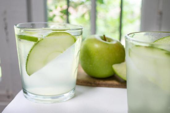 Green apple sparkler receta