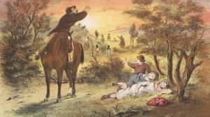 The Duff children lost in the bush. Photo: State Library of Victoria
