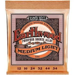 Ernie Ball 2146 Medium Light Acoustic Earthwood String Set