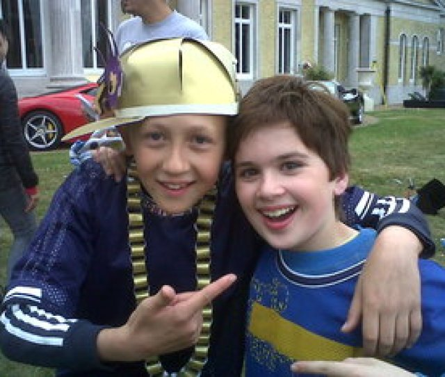 Jack Sanders With Theo Stevenson Who Played Horrid Henry