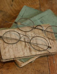 Antique Spectacles and Books