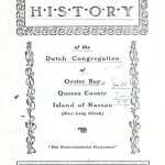 A Documentary History of the Dutch Congregation of Oyster Bay, Pamphlet No. 9