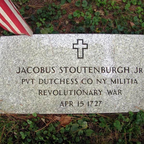 Jacobus Stoutenburgh, Jr., Private, Dutchess County, New York, Militia, Revolutionary War, April 15, 1727