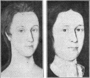 These portraits of Margaret Teller Stoutenburgh and Jacobus Stoutenburgh in their wedding clothes, were painted on wood in 1717. The originals are now in the possession of Miss Caroline Thorn Wells of Rhinebeck.
