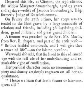Margaret Teller-Stoutenburgh Obituary