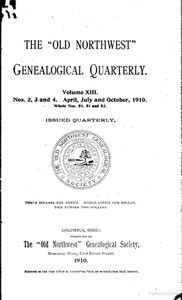 Old Northwest Genealogical Quarterly, Volume XIII