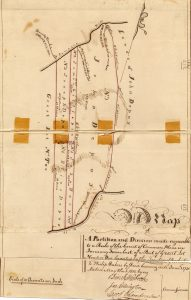 Map of A Partition and Division made agreeable to a Rule of the Court of Common Pleas in January Term last, of a Part of Great Lot Number One granted by the Trustees of Rochester to Philip DuBois by Deed bearing date June 1, 1730