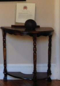 Cannon Ball in Wood Room of William Stoutenburgh House